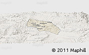 Shaded Relief Panoramic Map of Mendefera, lighten
