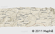 Shaded Relief Panoramic Map of Mendefera