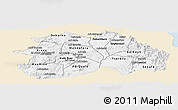 Classic Style Panoramic Map of Debub, single color outside