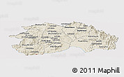 Shaded Relief Panoramic Map of Debub, cropped outside