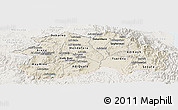 Shaded Relief Panoramic Map of Debub, lighten