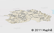 Shaded Relief Panoramic Map of Debub, single color outside
