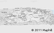 Silver Style Panoramic Map of Debub