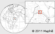 Blank Location Map of Segheneyti, highlighted parent region