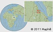 Savanna Style Location Map of Segheneyti, hill shading