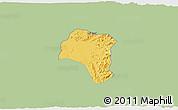 Savanna Style 3D Map of Tsorena, single color outside