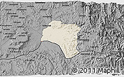 Shaded Relief 3D Map of Tsorena, darken, desaturated