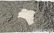 Shaded Relief 3D Map of Tsorena, darken