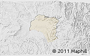 Shaded Relief 3D Map of Tsorena, lighten, desaturated