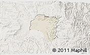 Shaded Relief 3D Map of Tsorena, lighten