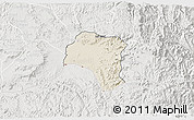Shaded Relief 3D Map of Tsorena, lighten, semi-desaturated