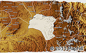 Shaded Relief 3D Map of Tsorena, physical outside