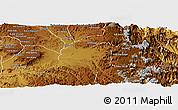 Physical Panoramic Map of Tsorena
