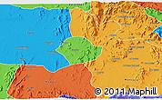 Political 3D Map of Akurdet