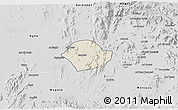 Shaded Relief 3D Map of Akurdet, desaturated