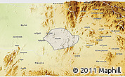 Shaded Relief 3D Map of Akurdet, physical outside