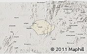 Shaded Relief 3D Map of Akurdet, semi-desaturated