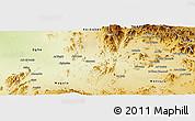 Physical Panoramic Map of Akurdet