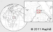 Blank Location Map of Barentu