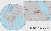 Gray Location Map of Barentu