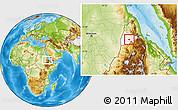 Physical Location Map of Barentu, highlighted parent region