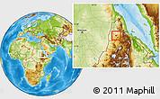Physical Location Map of Barentu