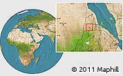 Satellite Location Map of Barentu