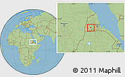 Savanna Style Location Map of Barentu