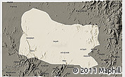 Shaded Relief 3D Map of Dghe, darken