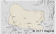 Shaded Relief 3D Map of Dghe, desaturated