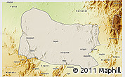Shaded Relief 3D Map of Dghe, physical outside