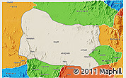 Shaded Relief 3D Map of Dghe, political outside