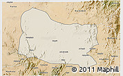 Shaded Relief 3D Map of Dghe, satellite outside