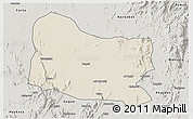Shaded Relief 3D Map of Dghe, semi-desaturated