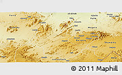Physical Panoramic Map of Gogne