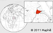 Blank Location Map of Gash-Barka