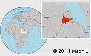 Gray Location Map of Gash-Barka