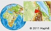 Physical Location Map of Gash-Barka