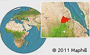 Satellite Location Map of Gash-Barka