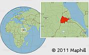 Savanna Style Location Map of Gash-Barka