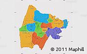 Political Map of Gash-Barka, cropped outside