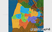 Political Map of Gash-Barka, darken
