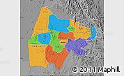 Political Map of Gash-Barka, desaturated