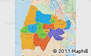 Political Map of Gash-Barka, lighten