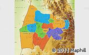 Political Map of Gash-Barka, physical outside