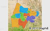 Political Map of Gash-Barka, satellite outside