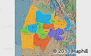Political Map of Gash-Barka, semi-desaturated