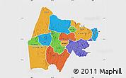 Political Map of Gash-Barka, single color outside