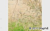 Satellite Map of Gash-Barka