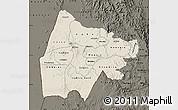 Shaded Relief Map of Gash-Barka, darken